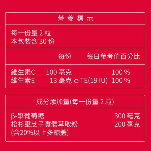 台灣極品靈芝膠囊(5入)加贈綜合維他命&維他命C